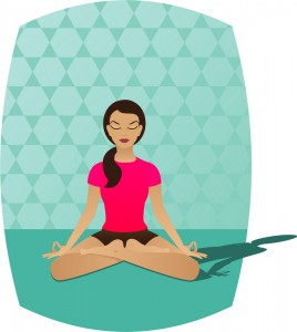 Fata mediteaza